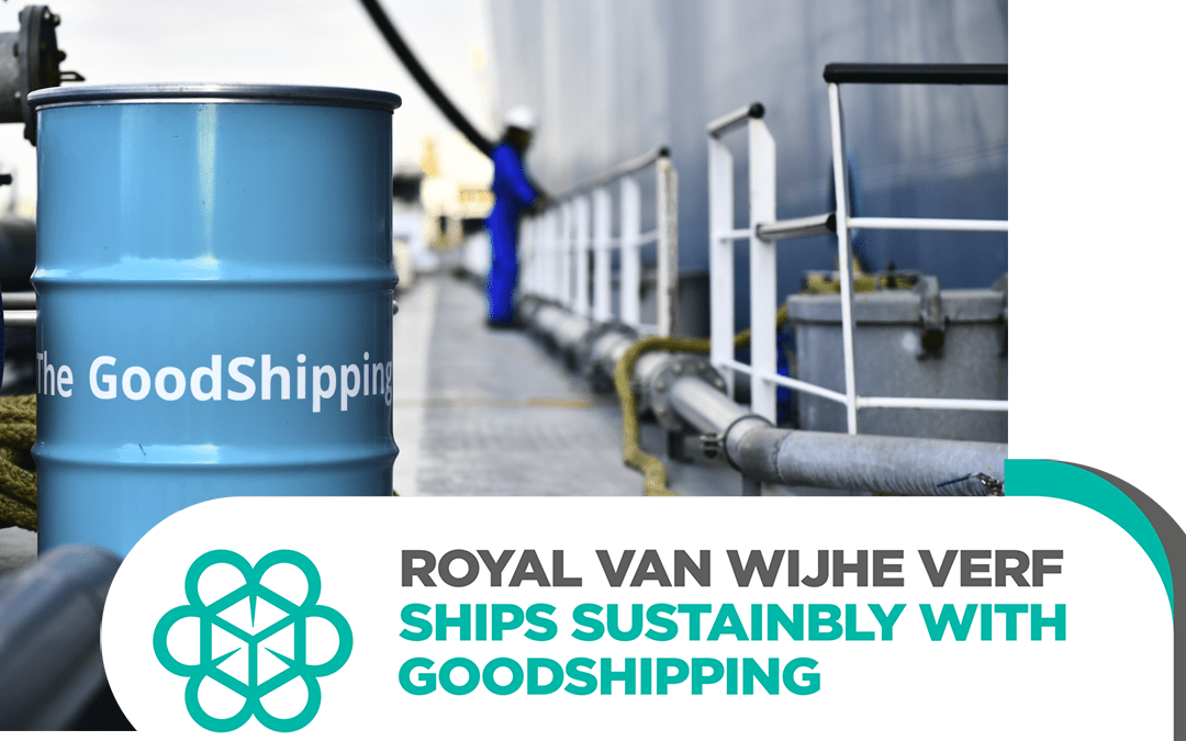 Royal Van Wijhe Verf joins GoodShipping to decarbonise its ocean freight